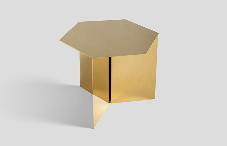Slit Table Hexagon - Brass
