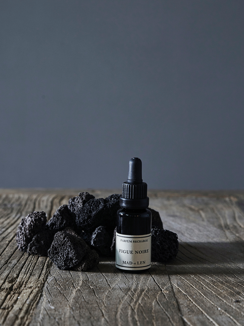 Pot Pourri Lava Rock: Figue Noir