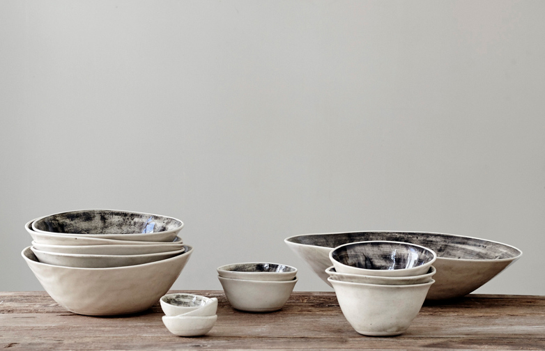 Organic Dinner Bowls Black Sand