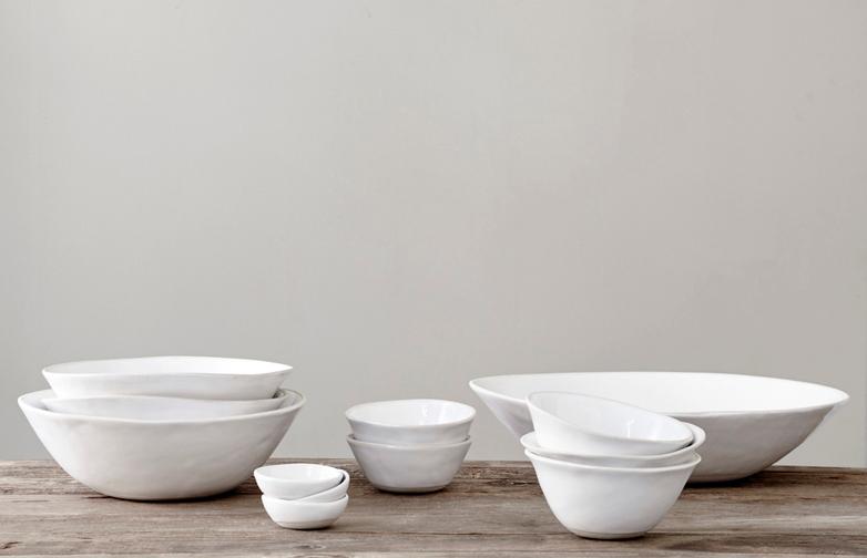 Organic Dinner Bowls White