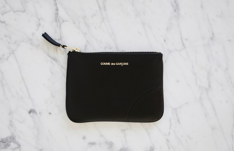 Classic Zip Pouch Wallet Small Black
