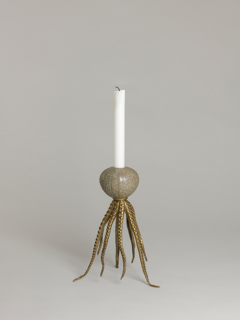 Octopus Candle Holder Grey