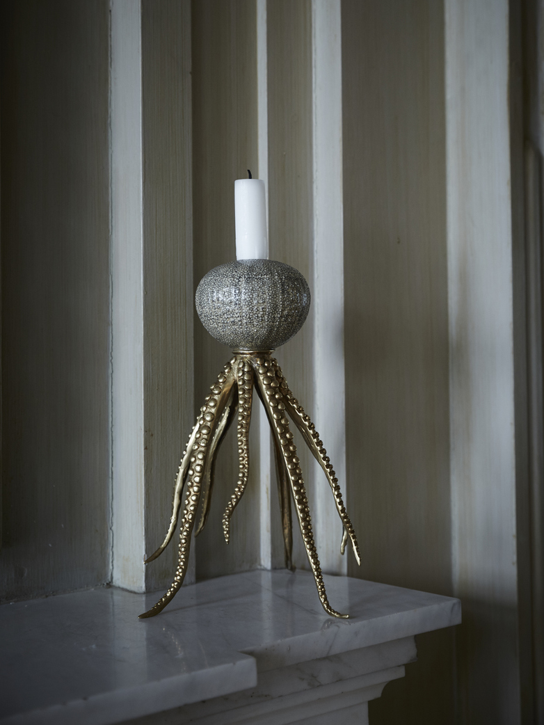 Octopus Candle Holder Grey - Bronze
