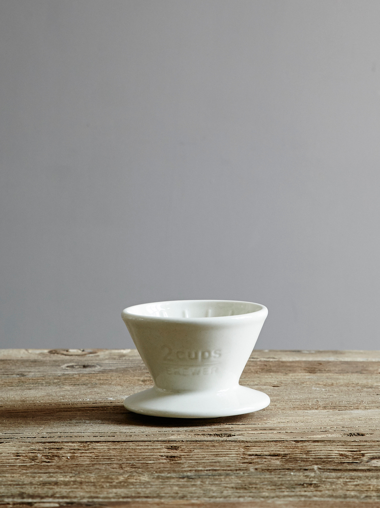 Brewer 2-cups / White