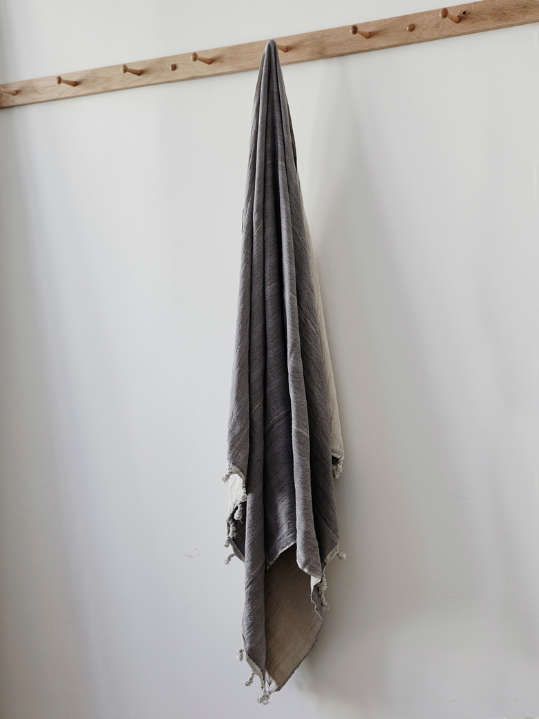 Hamam Beach Towel Grey