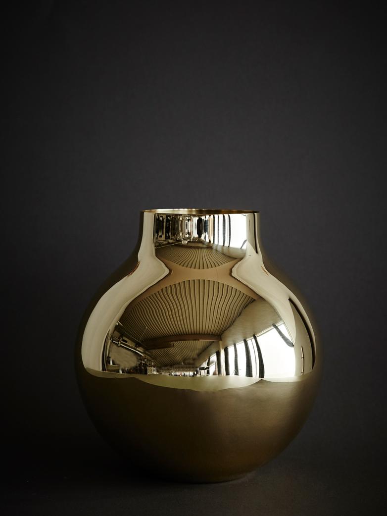 Boule vase - Brass