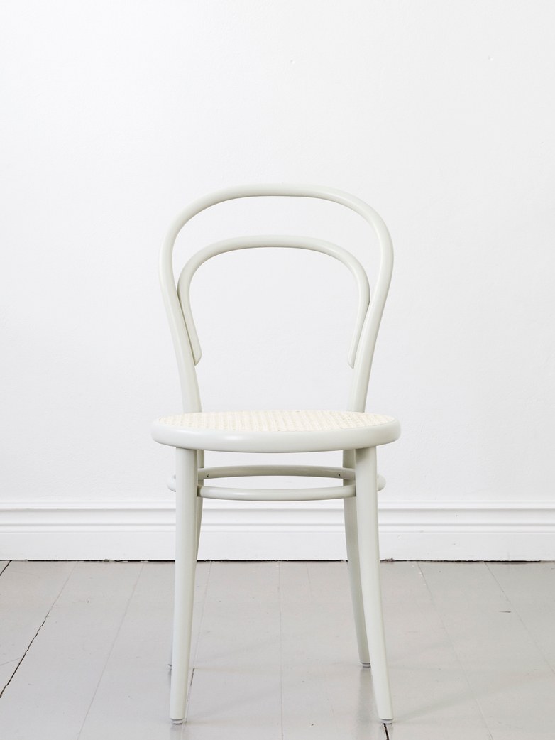 Chair No 14 – Pale Green – Cane