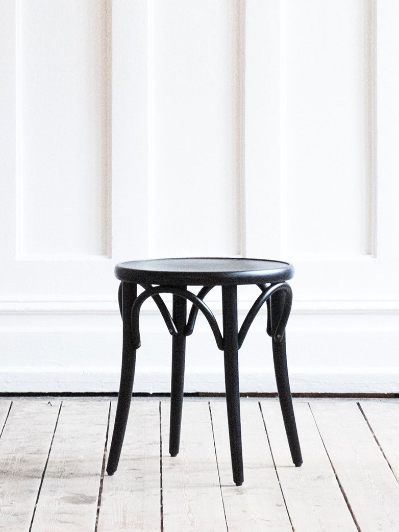 Stool No 60  – Black – Wood