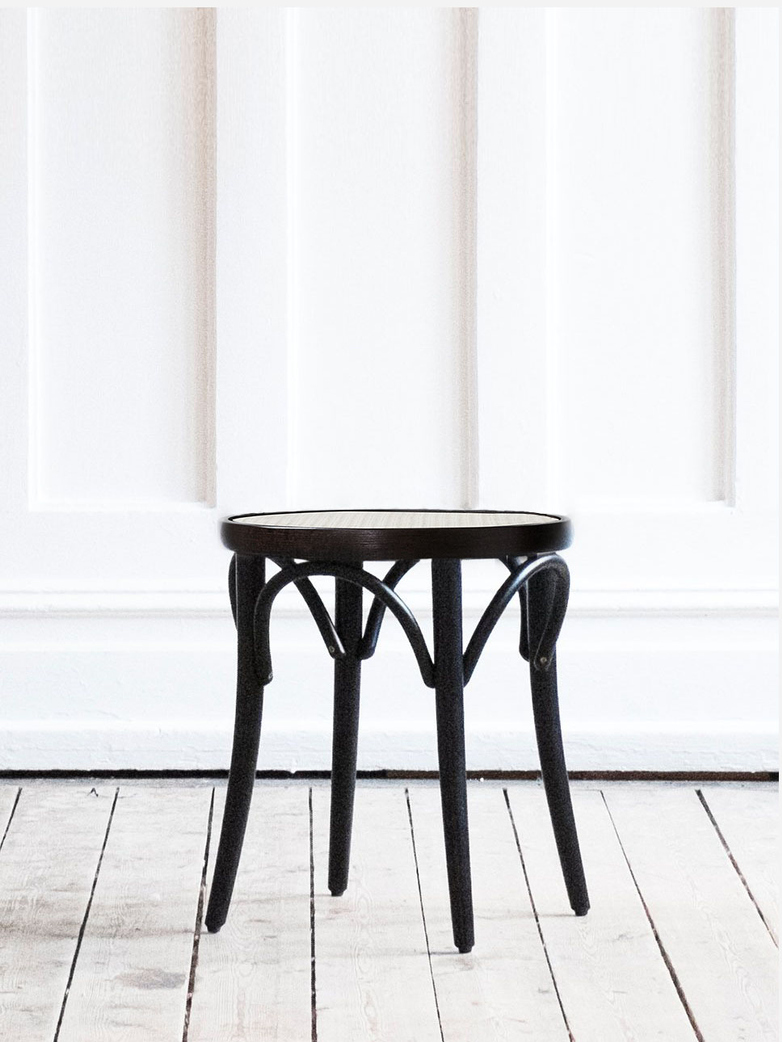 Stool No 60  – Black – Cane