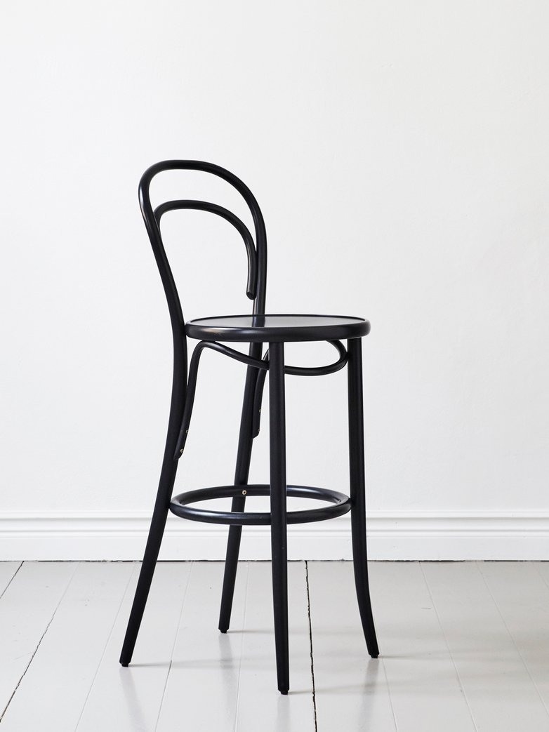 Barstool No 14 – Black – Wood – 61 cm