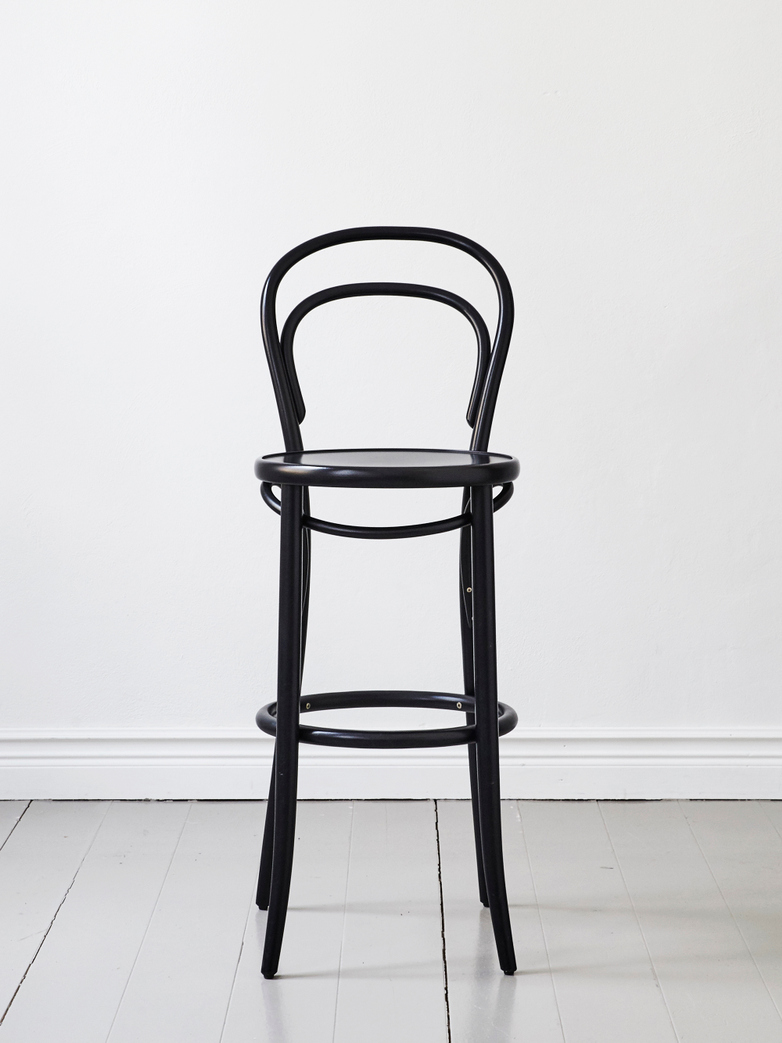 Barstool No 14 – Black – Wood – 76 cm