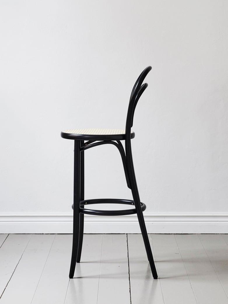 Barstool No 14 – Black – Cane – 61 cm