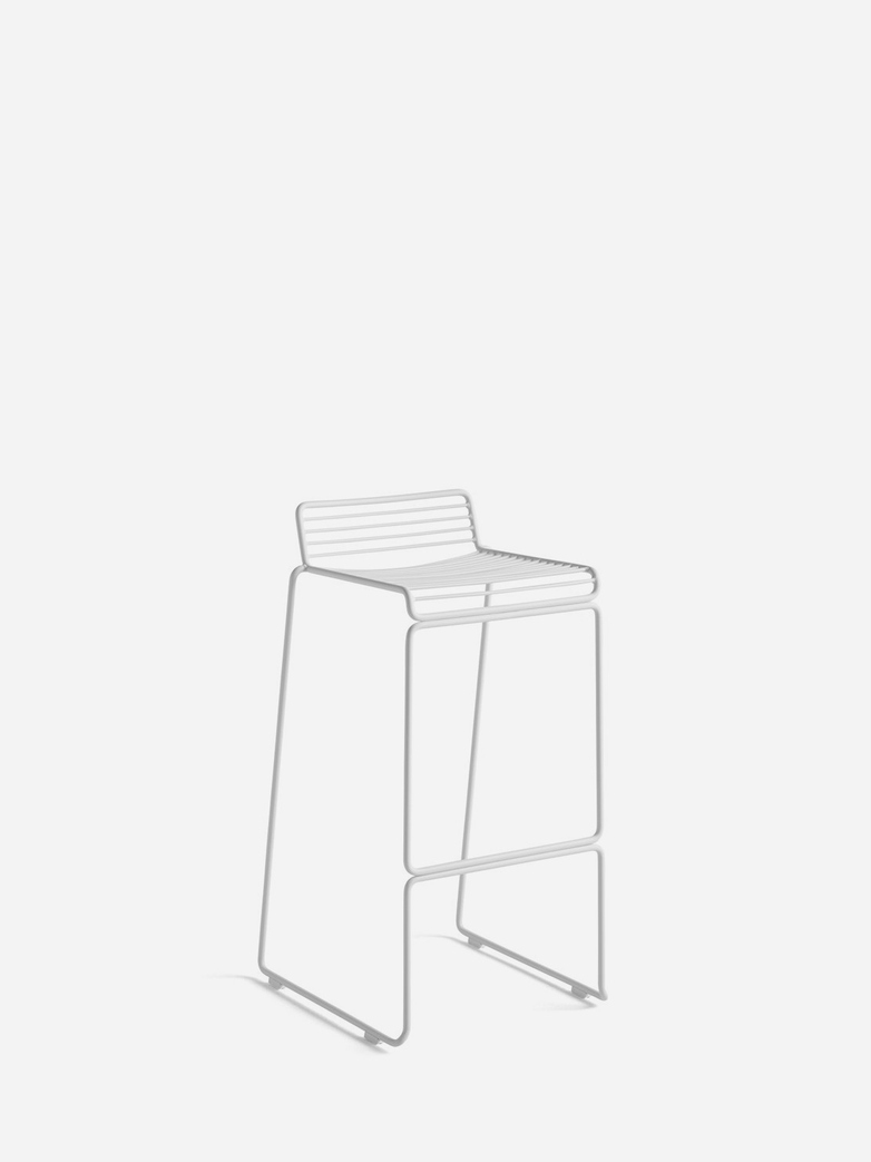 Hee Bar Stool – White - 75 cm