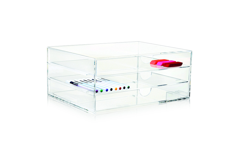 Clear 3-Drawer A4