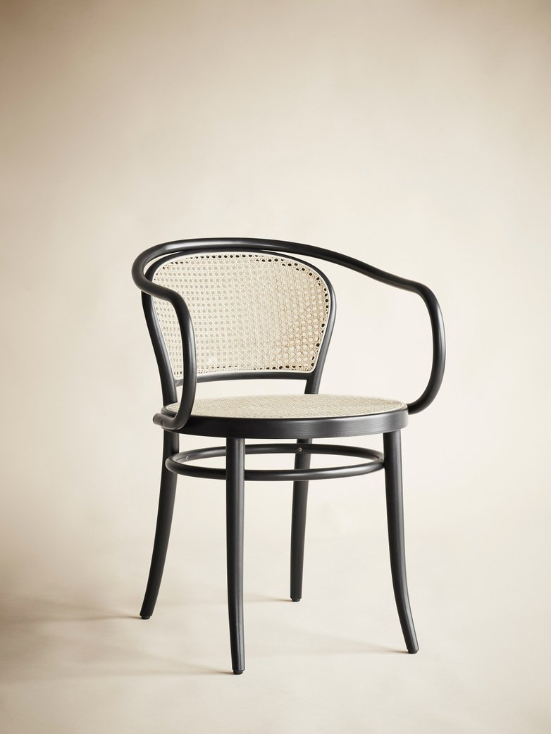 Armchair No 33 – Black - Cane