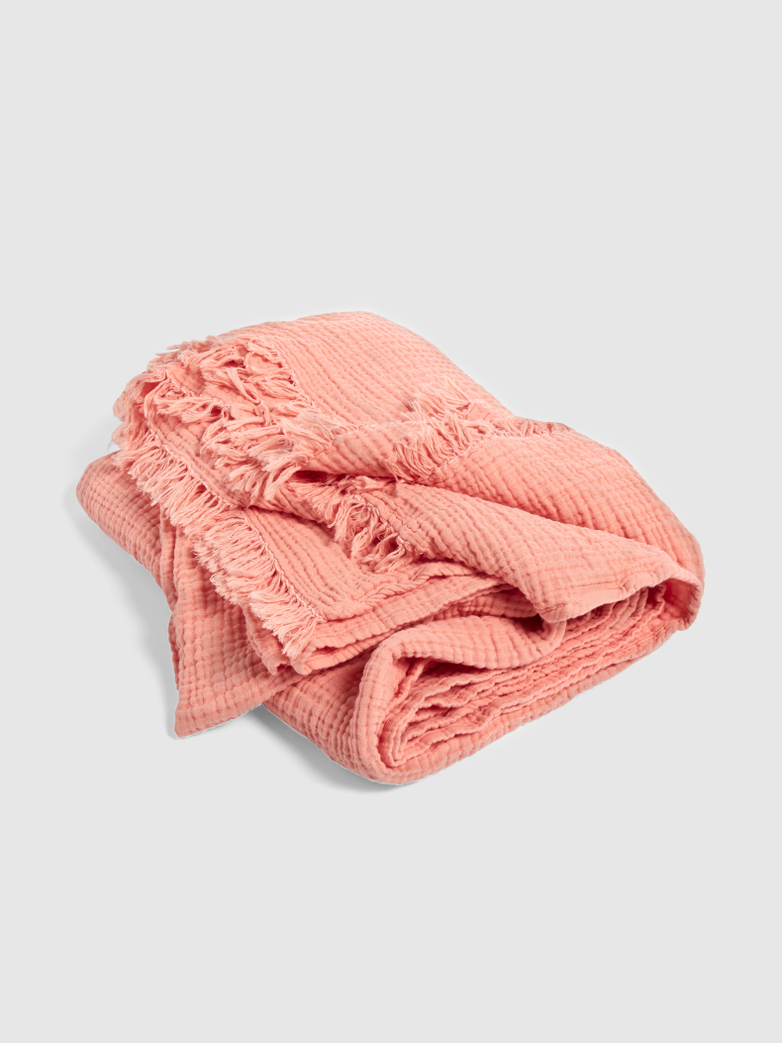 Crinkle Throw Peach