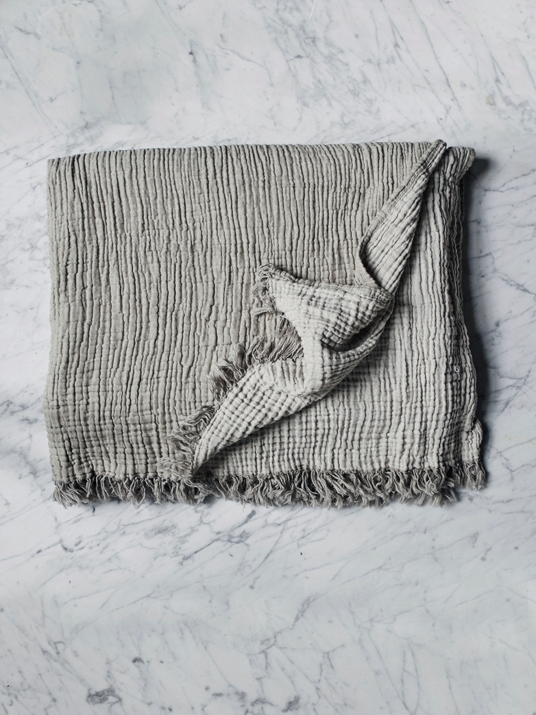 Crinkle Throw Silver