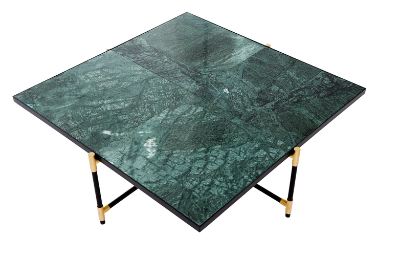 Green Marble - Black & Brass Frame