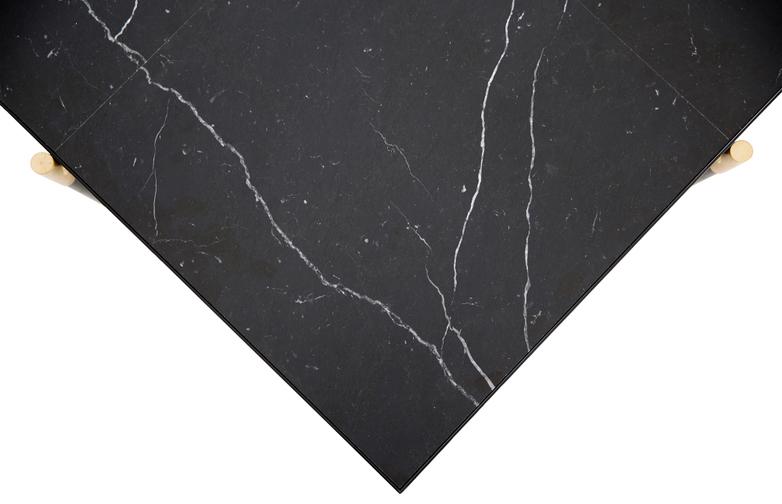 Black Marble - Black & Brass Frame