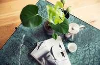 Green Marble - Black & Brass Frame